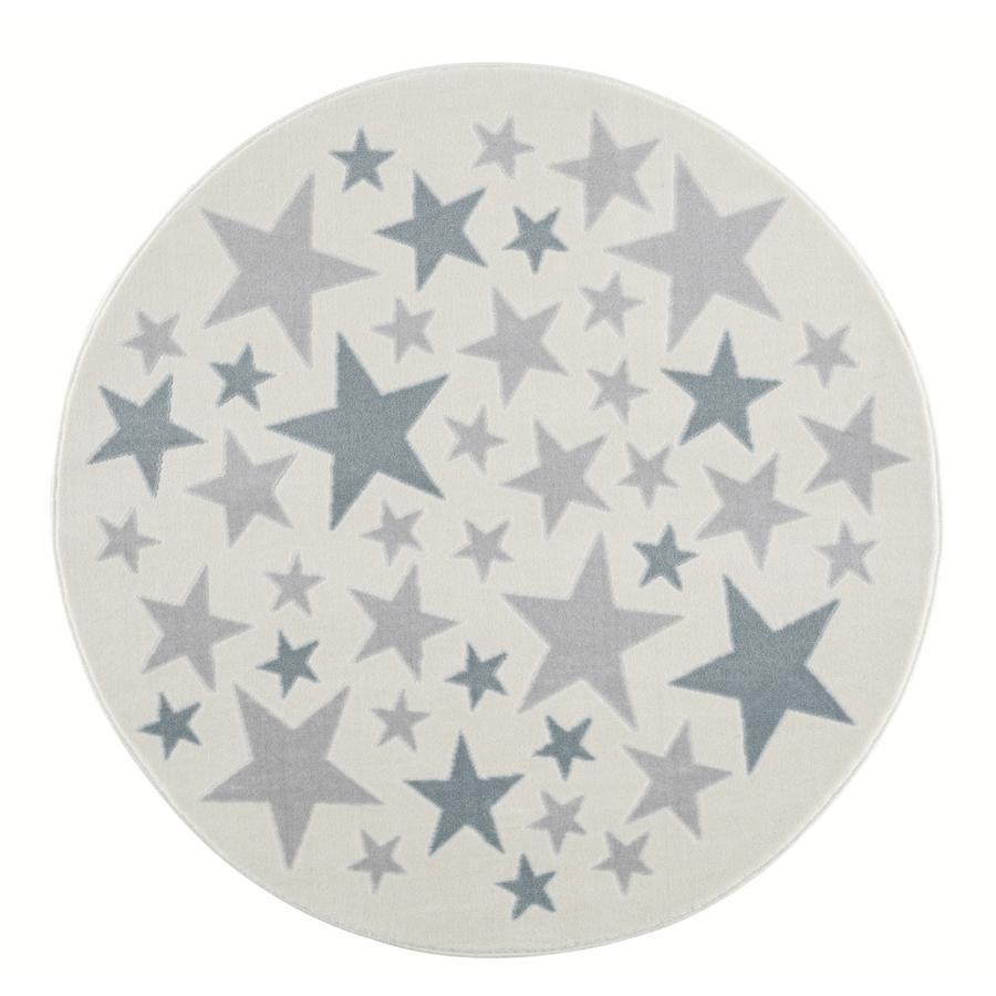LIVONE Tapijt Happy Rugs Stella  creme/zilvergrijs/blauw rond 160 cm