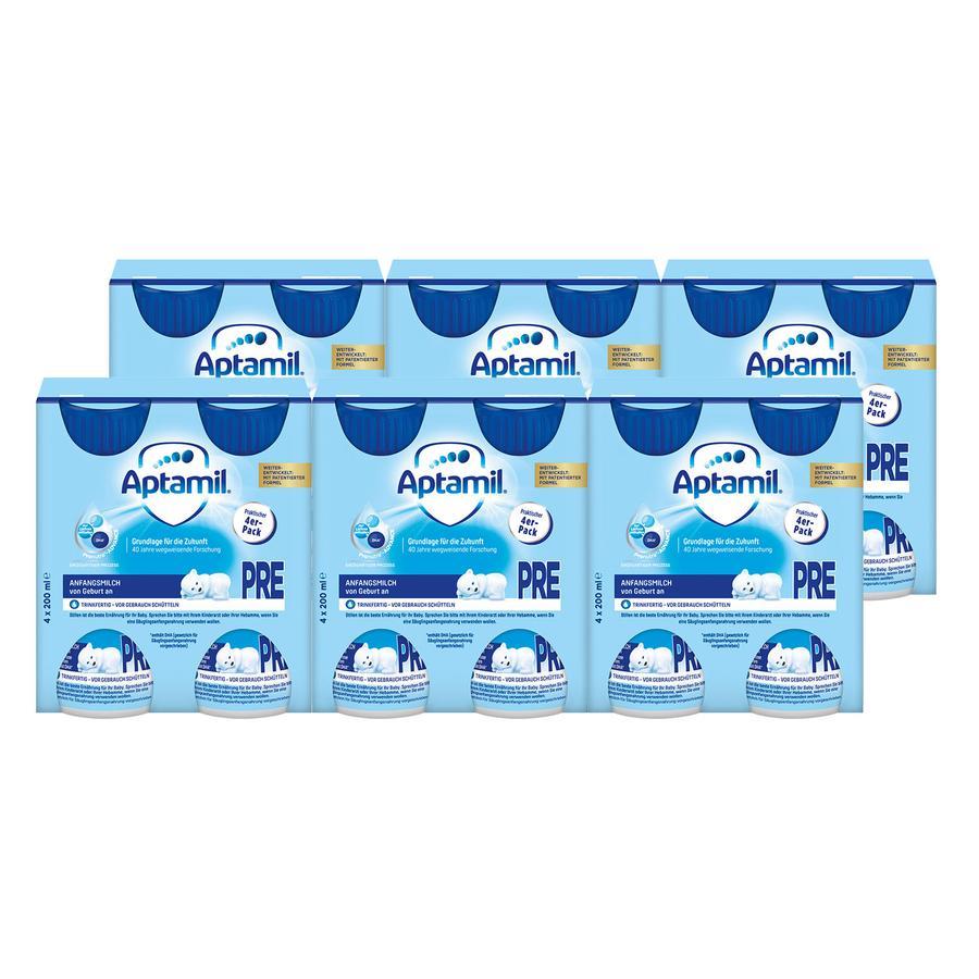 Aptamil Anfangsmilch Pronutra Advance Pre 6 x (4 x 200 ml) trinkfertig ab der Geburt