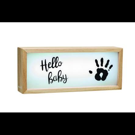 Baby Art Lys kasse lavet af træ - Lys kasse med im print