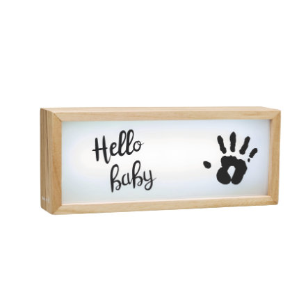 Baby Art Světelný box ze dřeva - Lightbox with imprint