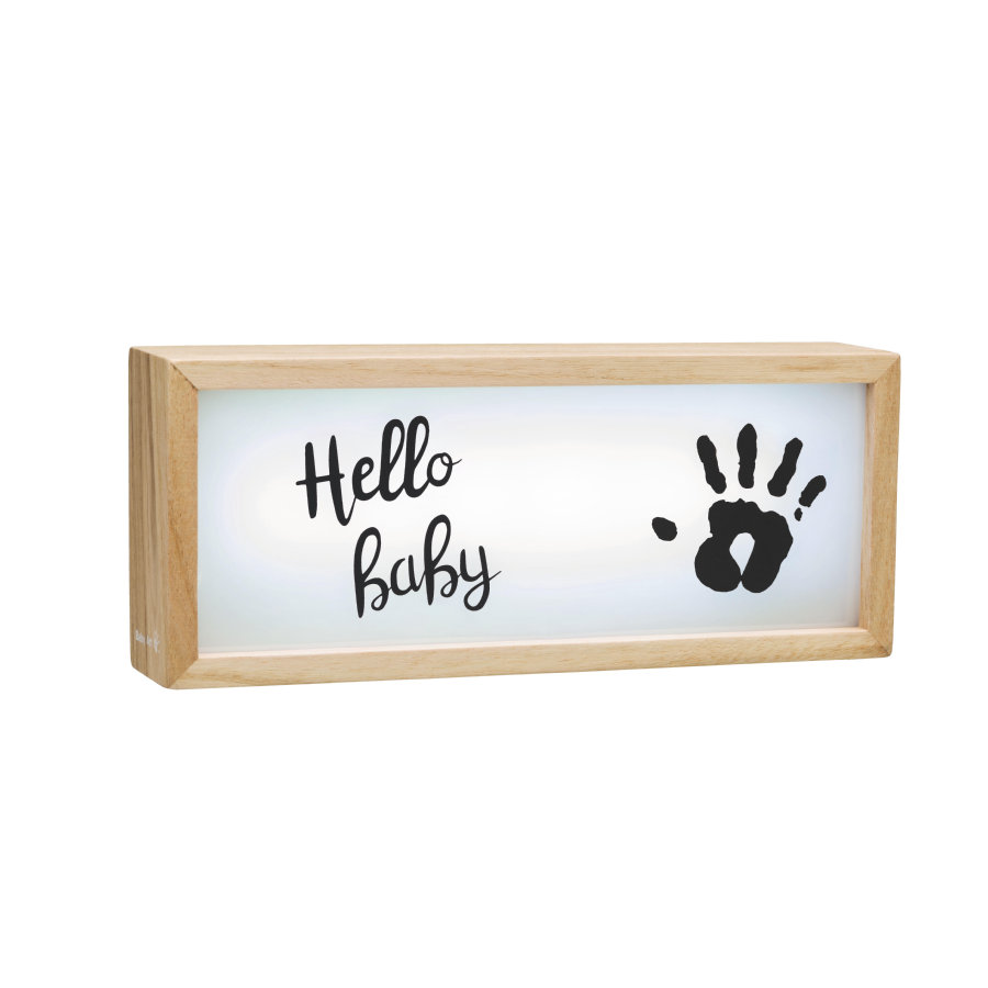 Baby Art Lichtbox aus Holz - Lightbox with imprint