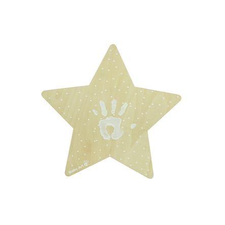 Baby Art Stella luce da parete con impronta - My Baby Star Wall Light with imprint