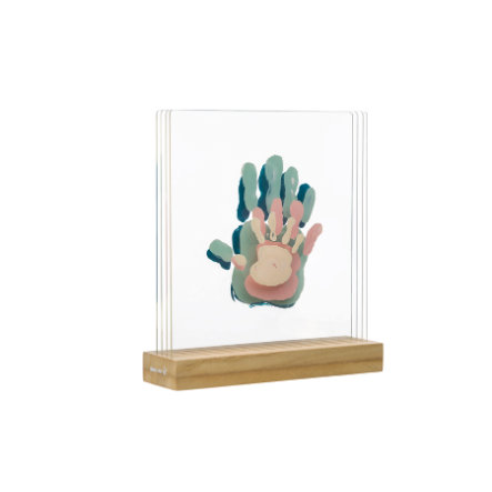 Baby Art Bilderrahmen Family Prints - Superposed Handprints, White (Plexi)