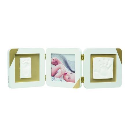 Baby Art Fotoram med tryck - My Baby Touch Guld doppad vit dubbeltryck