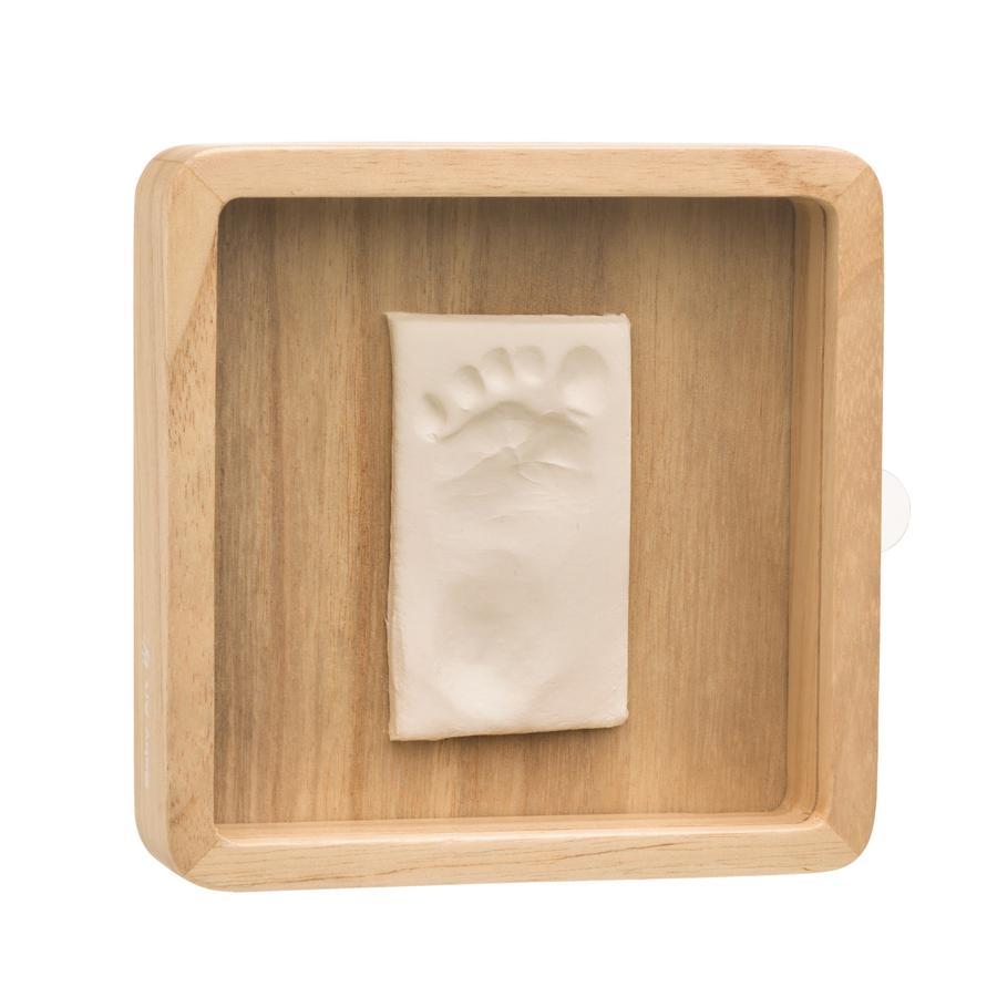 Baby Art gips gjutet set med ram - Magix Box trä