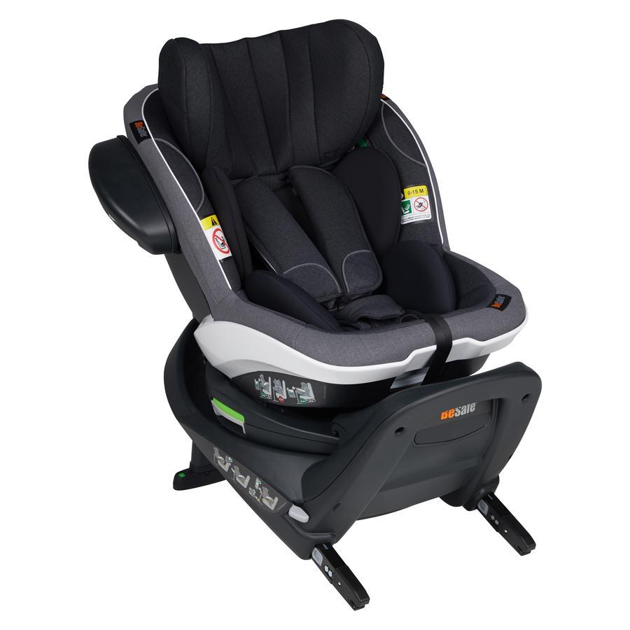 BeSafe Kindersitz iZi Turn i-Size Midnight Black Mélange