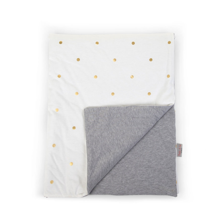CHILDHOME Decke Gold Dots 80 x 100 cm