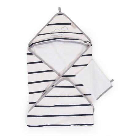 CHILDHOME badehåndklæde inkl. vaskehandske Marin