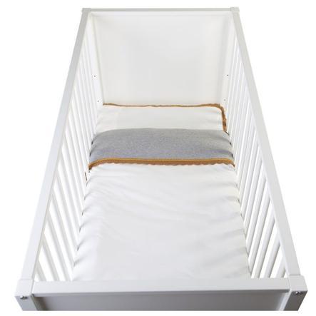CHILDHOME Parure de lit enfant Crochet écru 100x140 cm