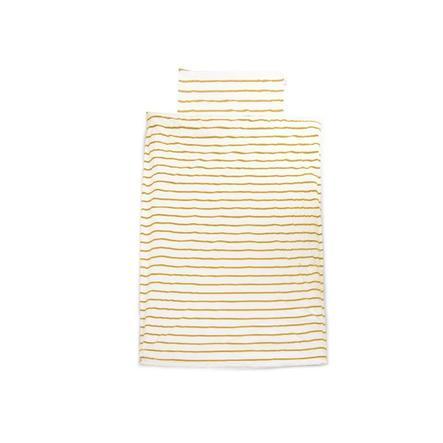 CHILDHOME Bettwäsche Ochre Stripes 100 x 140 cm
