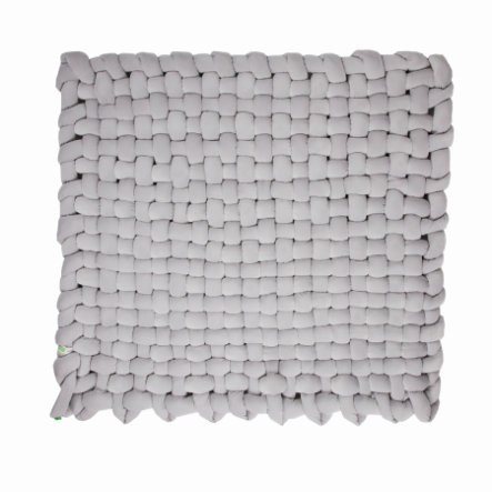 LULANDO Tapis d'éveil tressé Velvet gris 140x140 cm