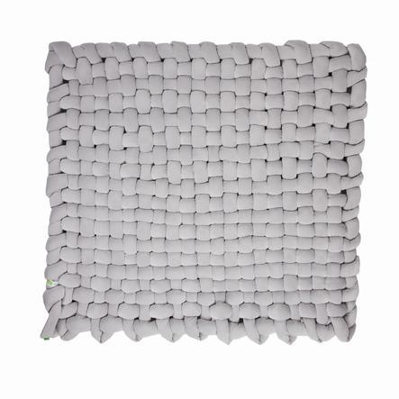 LULANDO trenza de estera Velvet gris 140x140 cm