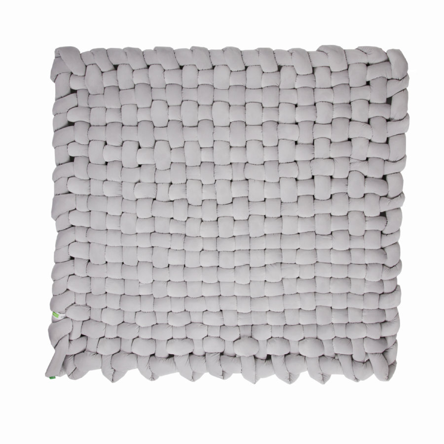 LULANDO Kleede gevlochten Velvet grey 140x140 cm
