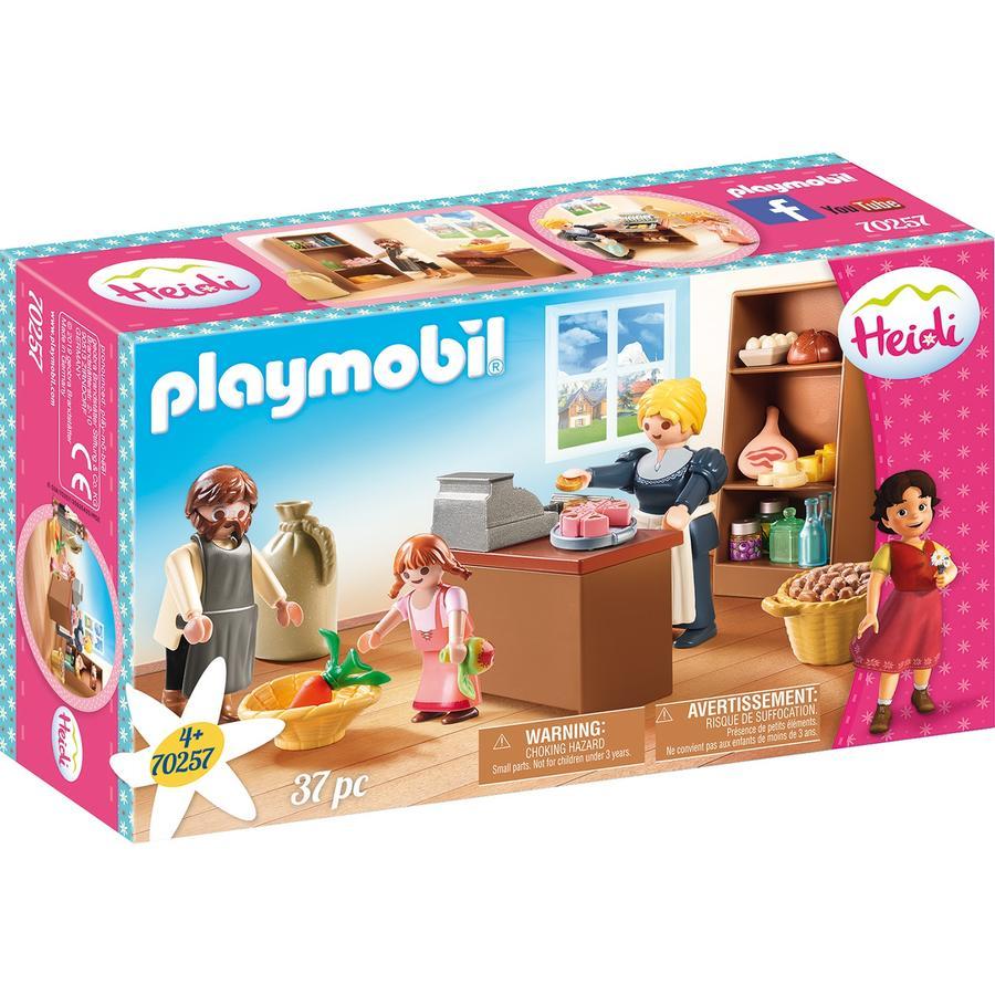 PLAYMOBIL® Heidi Figurine épicerie de la famille Keller 70257
