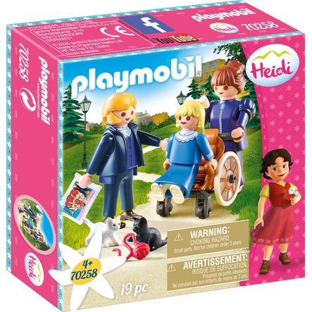 PLAYMOBIL ® Heidi Clara med far og frøken Rottenmeier 70258