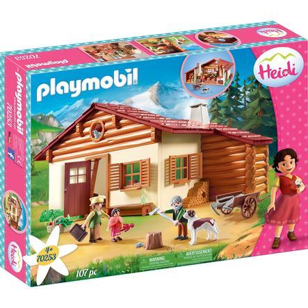 PLAYMOBIL® Heidi - Heidi und Großvater auf der Almhütte 70253