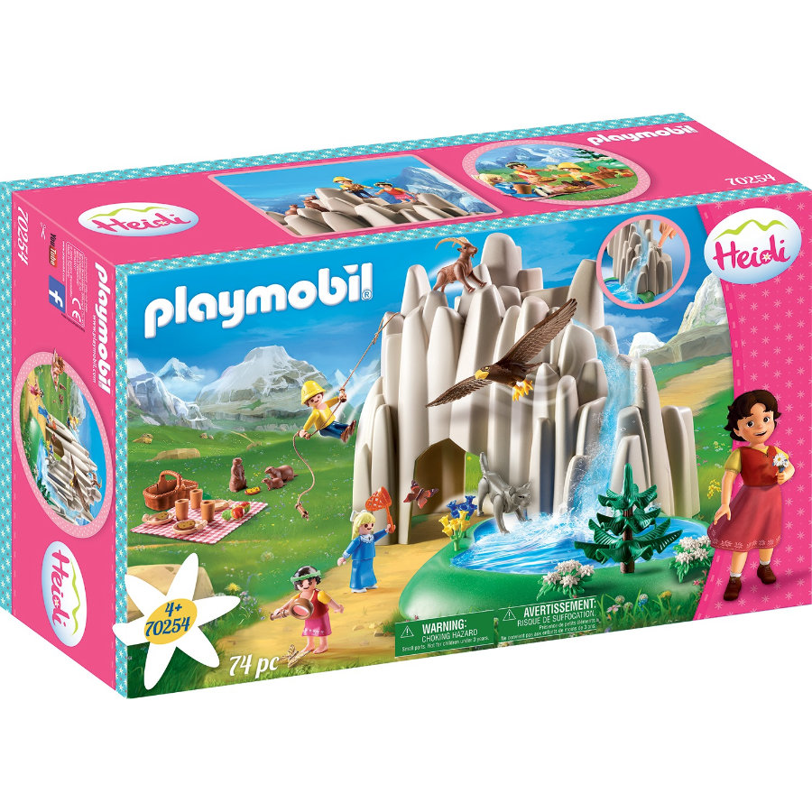 PLAYMOBIL ® Heidi U křišťálového jezera s Heidi, Peterem a Clarou 70254