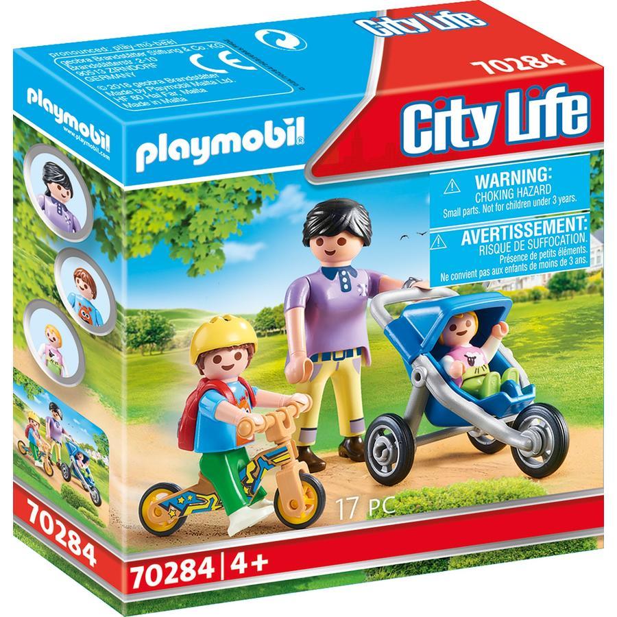 PLAYMOBIL® City Life Äiti lasten kanssa 70284