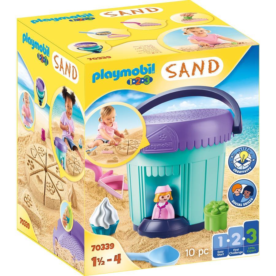 PLAYMOBIL  ® 1 2 3 SAND Juego creativo Sand de panadería 70339