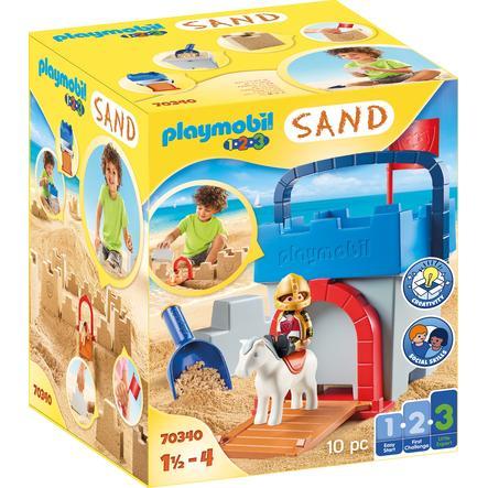 PLAYMOBIL® 123 Figurine château de sable 70340