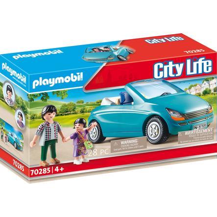 PLAYMOBIL® City Life Figurine Papa et enfant avec cabriolet 70285