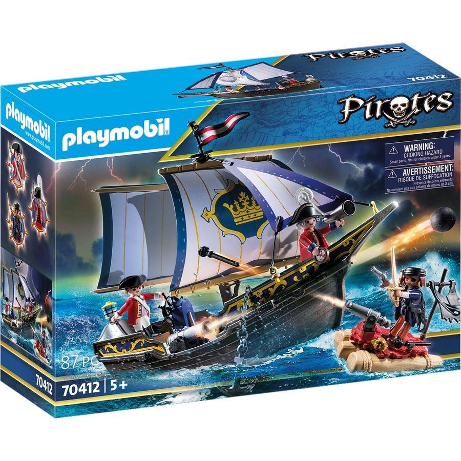 PLAYMOBIL  Piratas marinero de roca roja 70412