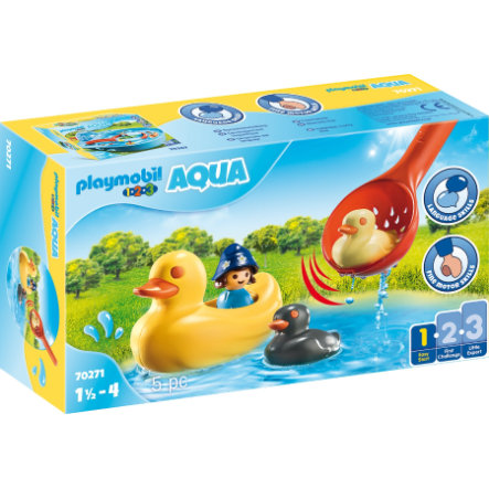 PLAYMOBIL® 123 AQUA Figurine famille canards 70271