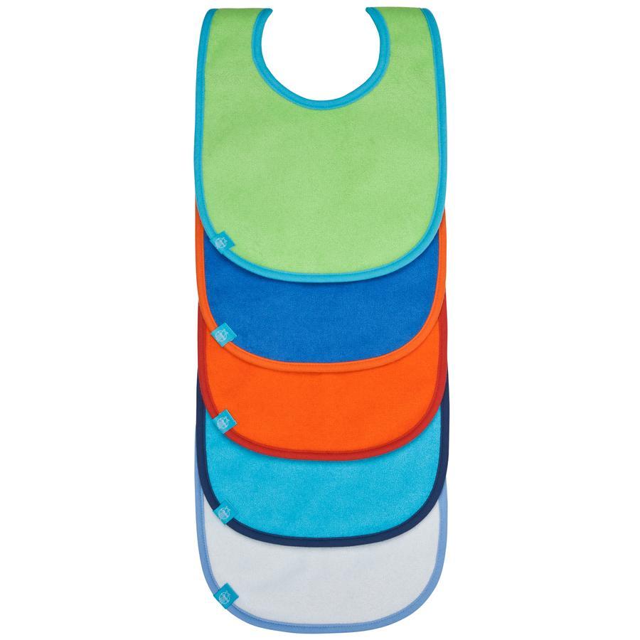 LÄSSIG bib value pack Lätzchen 3-24 Monate, uni verschieden Farben, 5 pcs.