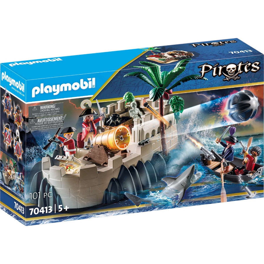 PLAYMOBIL  ® Piratas bastión de faldas rojas 70413