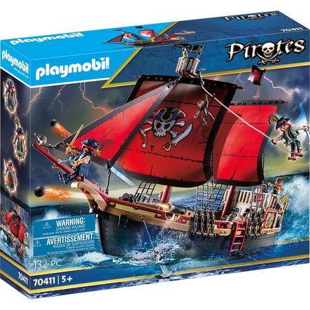 PLAYMOBIL  Piratas Cráneo y huesos cruzados del caza 70411