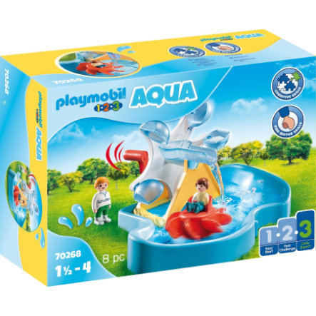 PLAYMOBIL ® 1 2 3 AQUA vodní kolo s karuselem 70268