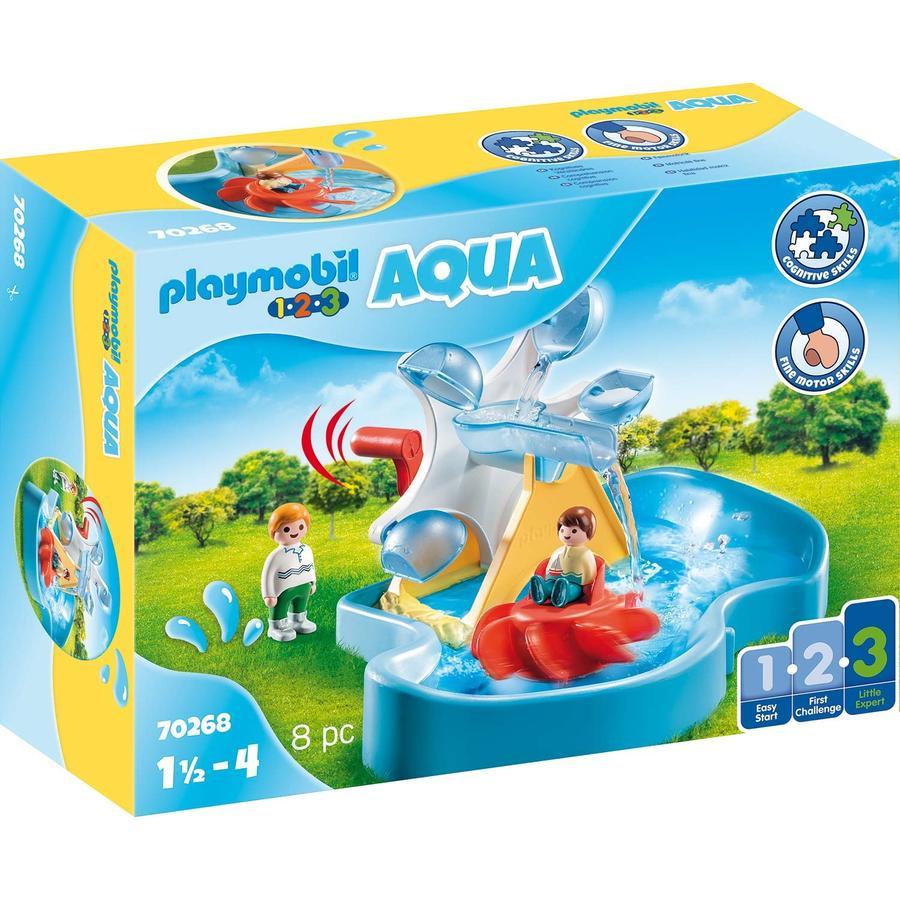 PLAYMOBIL® 1 2 3 AQUA Wasserrad mit Karussell 70268