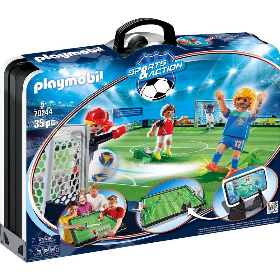PLAYMOBIL® SPORTS & ACTION Figurine terrain de football géant transportable 70244
