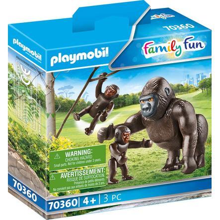 PLAYMOBIL® Family Fun Gorilla vauvojen kanssa 70360