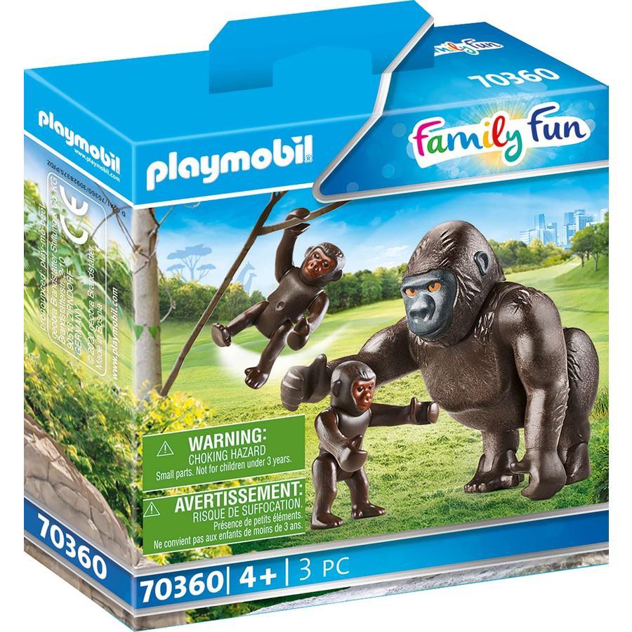 PLAYMOBIL  ® Family Fun Gorilla met baby's 70360