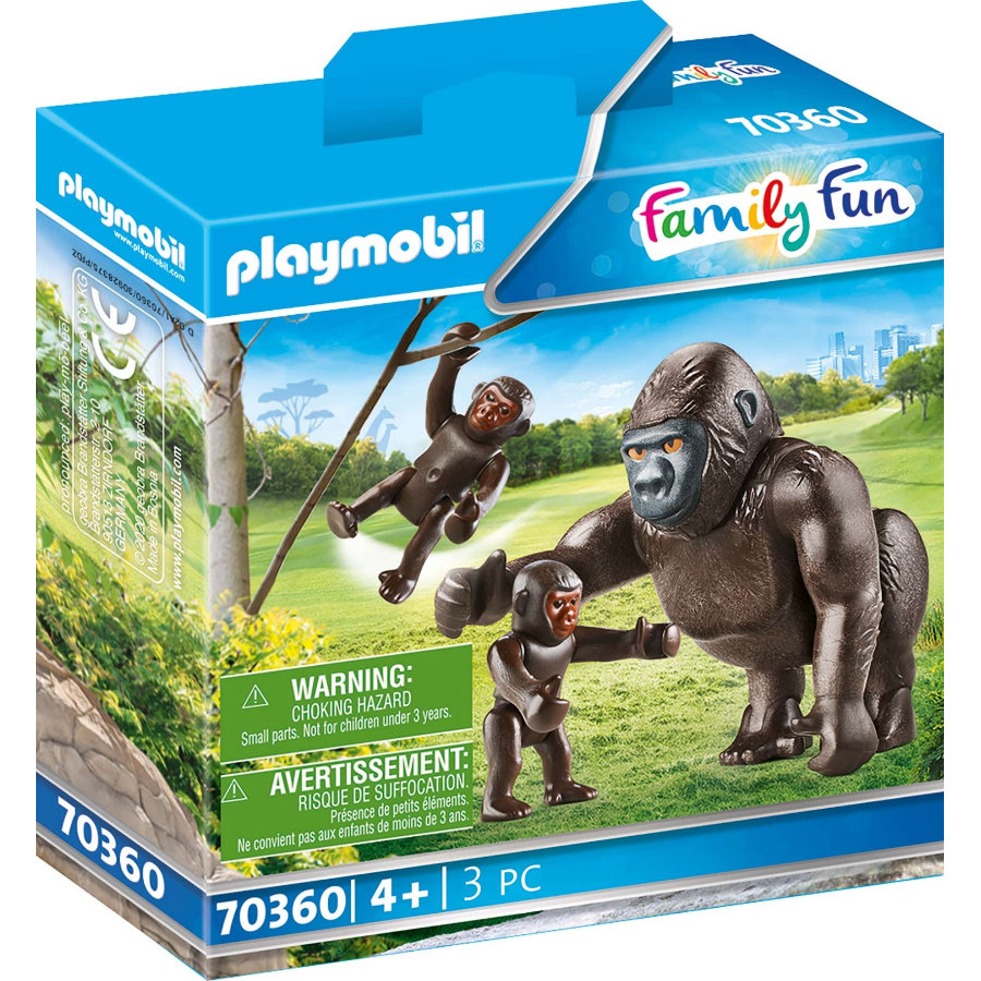 PLAYMOBIL® Family Fun Gorilla mit Babys 70360
