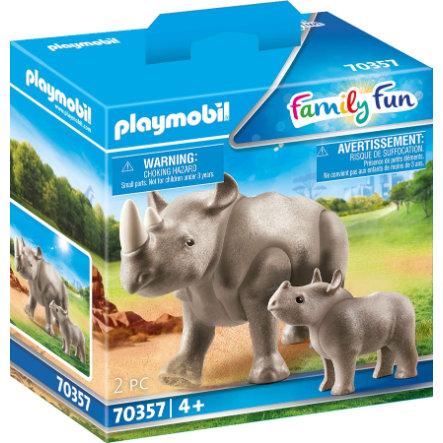 PLAYMOBIL® Family Fun Nashorn mit Baby 70357