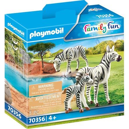 PLAYMOBIL® Family Fun 2 Zebras mit Baby 70356