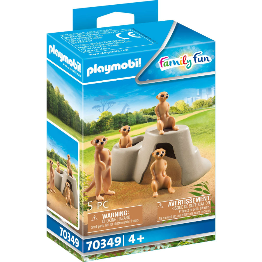 PLAYMOBIL  ® Family Fun stokstaartje kolonie 70349