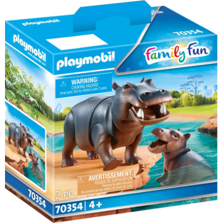 PLAYMOBIL  ® Family Fun Hippo with Baby 70354