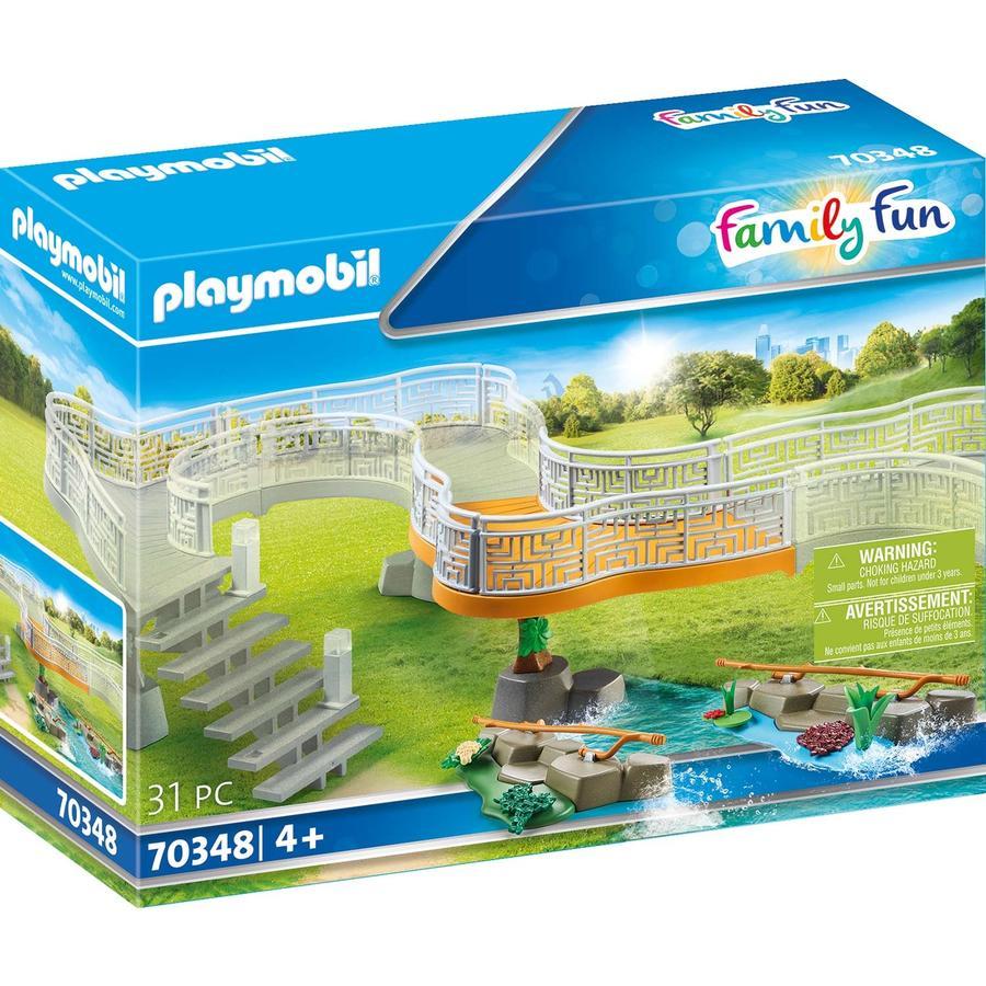 PLAYMOBIL  ® Juego de Extensión de Diversión Familiar Adventure Zoo 70348