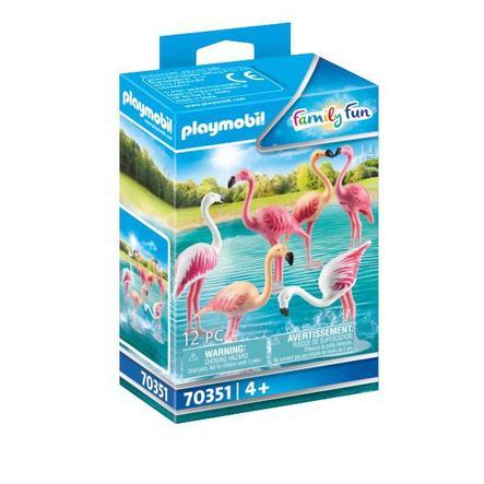PLAYMOBIL® Family Fun Figurine groupe de flamants roses 70351