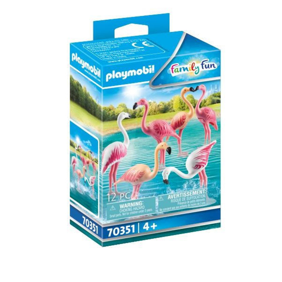 PLAYMOBIL Family Fun Flamingo Swarm 70351