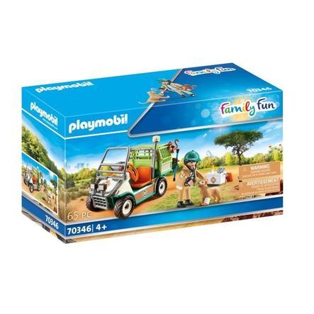 PLAYMOBIL ® Family Fun Zoo dyrlæge med køretøj 70346