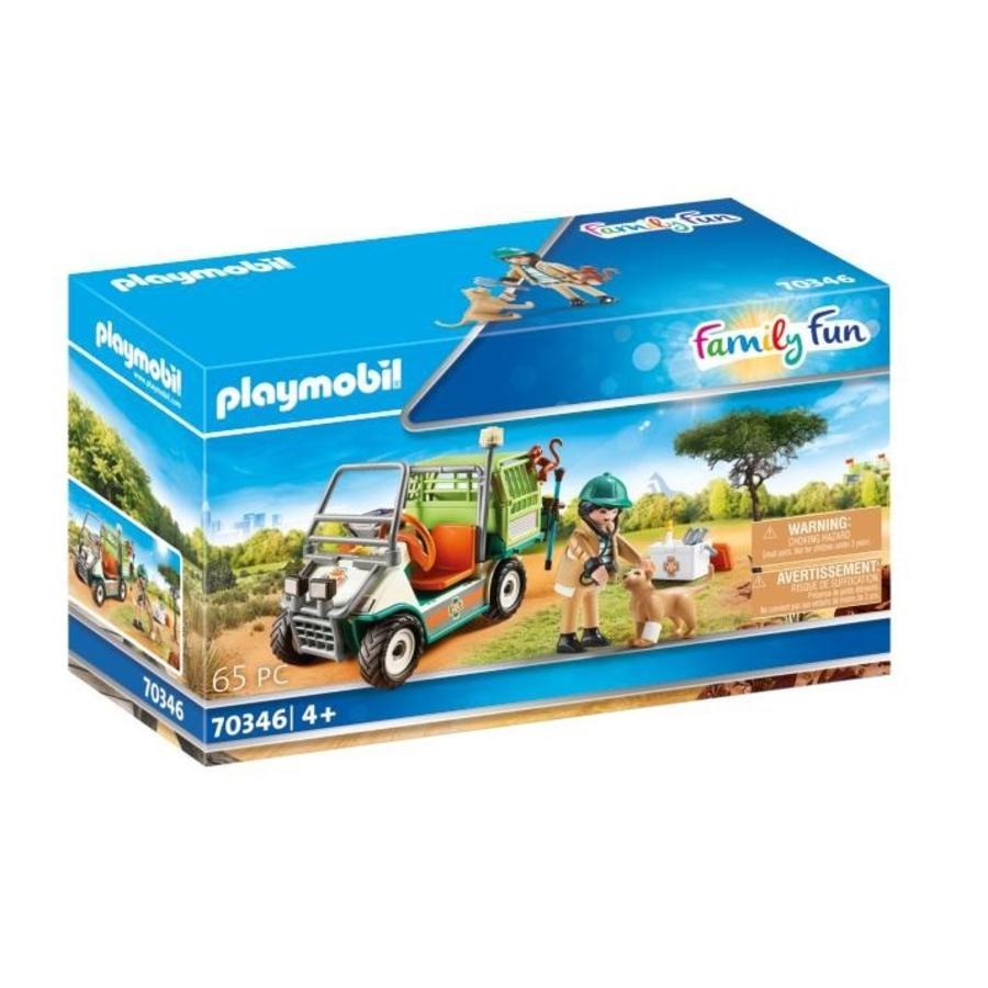 PLAYMOBIL  ® Family Fun Zoo Dierentuin dierenarts met voertuig 70346