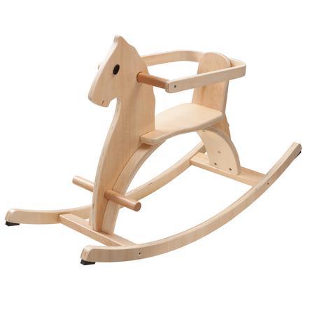 howa® Cavallo a dondolo legno naturale