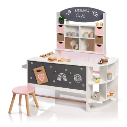 MUSTERKIND® obchod a kavárna Arabica, růžová / zlatá