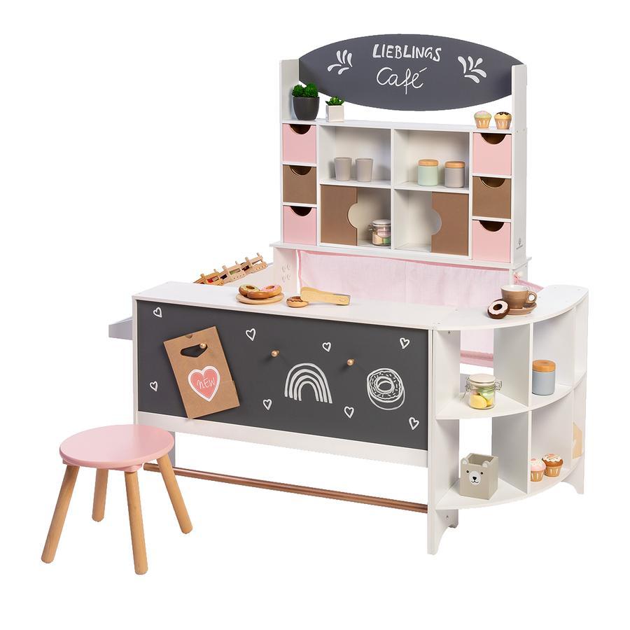 MUSTERKIND® Tienda de Café Arábica de juguete, rosa / oro