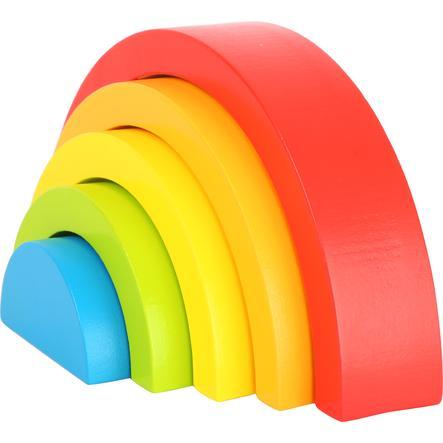 liten fot ® treblokker regnbue