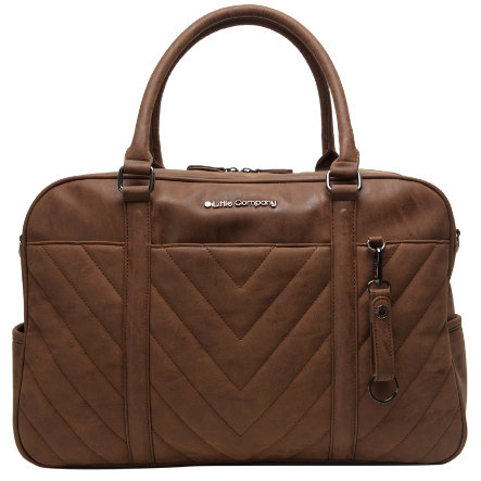 Little Company Hoitolaukku Amsterdam quilted Cognac